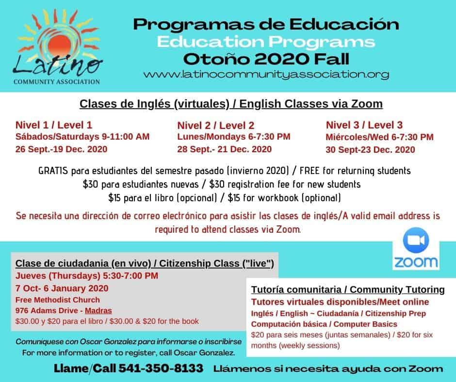 Education Programs Fall 2020