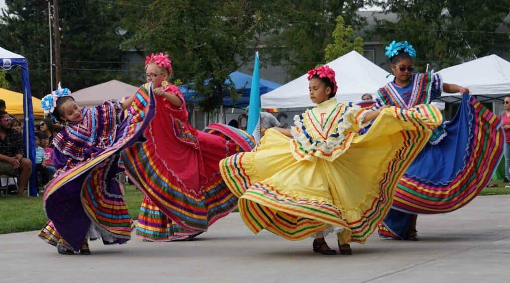 Latino fest dancers